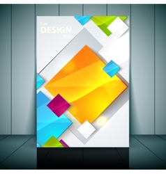 Fashion brochure flyer magazine cover poster vector image