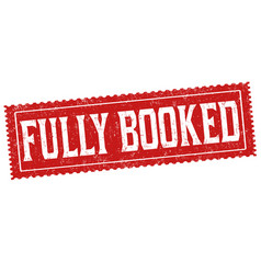 Fully booked sign or stamp vector