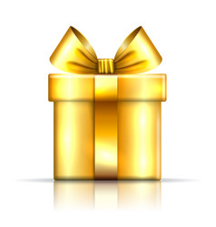 gift box gold icon open surprise present template vector image