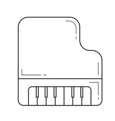 grand piano line icon vector image