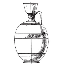 Greek lekythos is an attic style vintage engraving vector