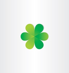 green leafs clover abstract symbol vector image