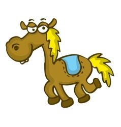 Happy horse funny cartoon vector image
