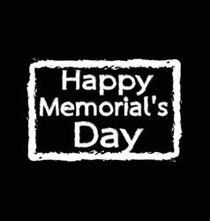 Happy memorial day design vector