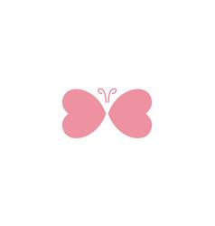 Heart love shape butterfly logo icon design vector