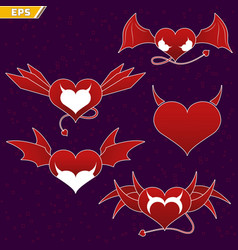 icon of the demon s heart dear devil icon of the vector image