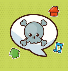 Kawaii bubble speech social vector