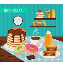 Meal Tower Breakfast Poster vector image