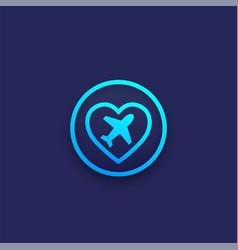 Medical tourism logo icon vector