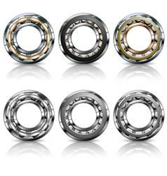 metal roller bearings vector image
