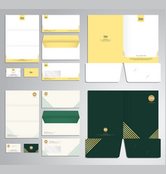 modern stationery set pattern and template vector image