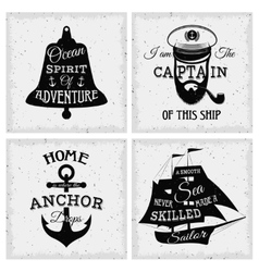 Nautical Quotes Compositions vector