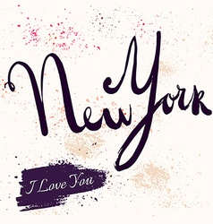 New York text vector