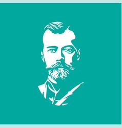 Nicholas ii portraits of famous russian historical vector