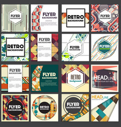 old retro vintage style background design template vector image