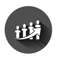 Performance icon in flat style career on black vector