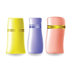 plastic bottles for cosmetic vector image