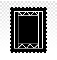 Postage stamp or letter stamp - flat art icons vector