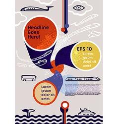 Poster flyer leaflet layout Editable design vector