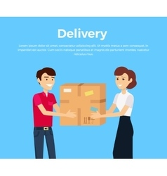 Profession Courier with Box vector