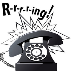 Ringing phone vector