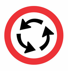 rotary traffic sign vector image