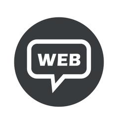 Round dialog WEB icon vector image