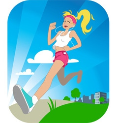 Running girl vector image vector image
