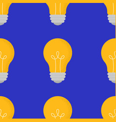 seamless pattern with cartoon doodle lightbulbs vector image