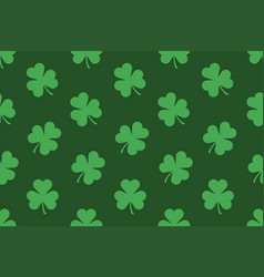 seamless pattern with shamrocks vector image