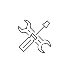 Services related thin line icon vector