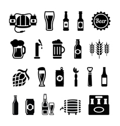 Set of beer icons vector