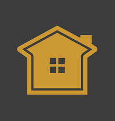 simple elegant golden house vector image
