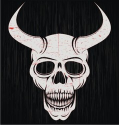 Skulls Of Demon vector image