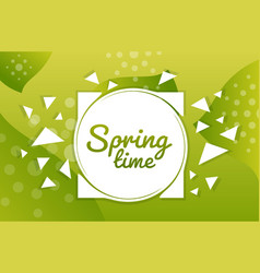 spring time hand drawn poster vintage lettering vector image