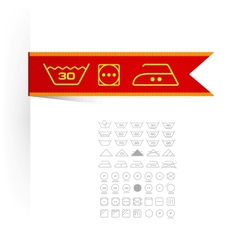 Symbols on label clothes vector
