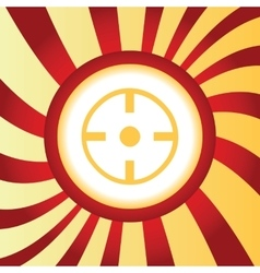 Target abstract icon vector