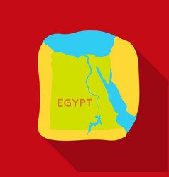 territory of egypt icon in flat style isolated on vector image