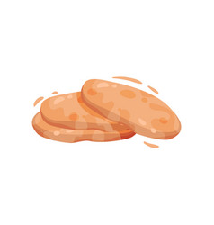 Traditional turkish flat bread cakes vector