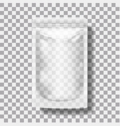 Transparent blank pouch with zipper pack for vector