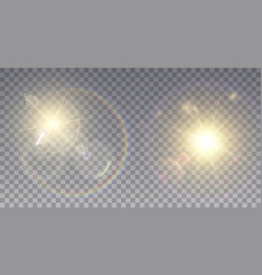 two realistic lens flare effects vector image