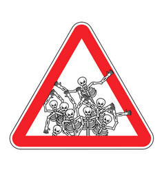 Warning sign of attention sinners dangers red vector