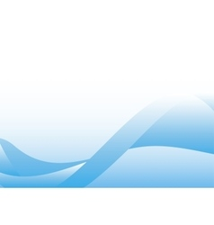 wavy blue background vector image vector image