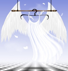white wings of an angel vector image