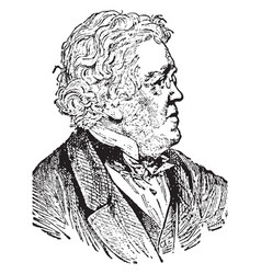 William makepeace thackery vintage vector