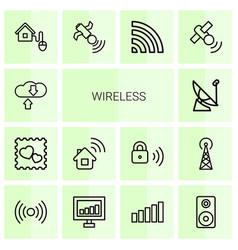 wireless icons vector image