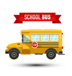 yellow school bus iconisolated on white vector image