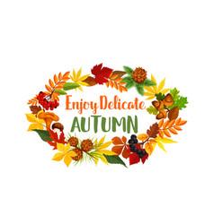 autumn seasonal harvest greeting poster vector image