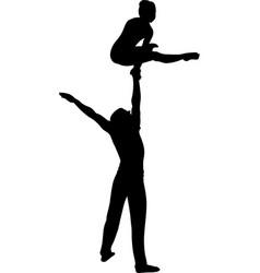 gymnasts acrobats gymnasts circus gymnasts vector image vector image