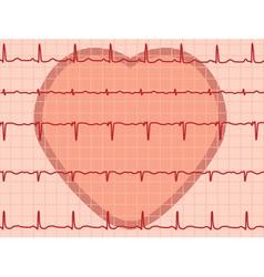 heartbeat electrocardiogram vector image